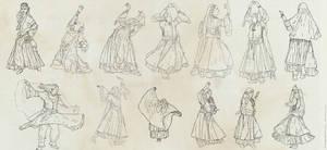 dancers by OurobourosAngel