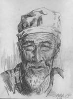 Old Chinese Man by HCui