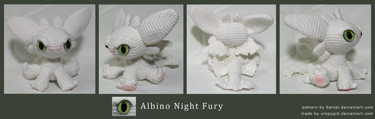 Chibi albino Night Fury by uropygid on DeviantArt