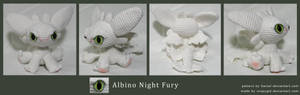 Chibi albino Night Fury