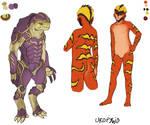 ME concepts: krogan and drell ladies