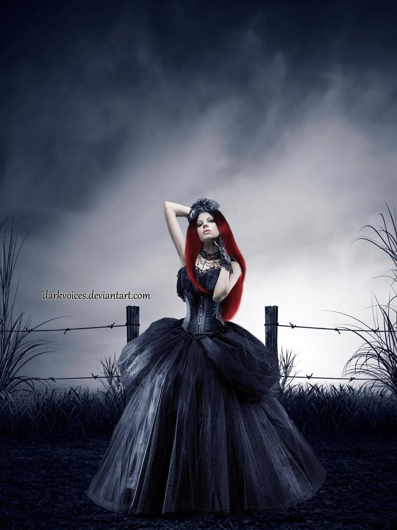 Red in the dark by Dark-Voices