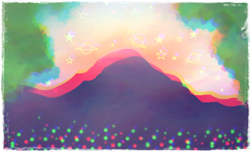 Aesthetic Mountain by Bzwel-Delta