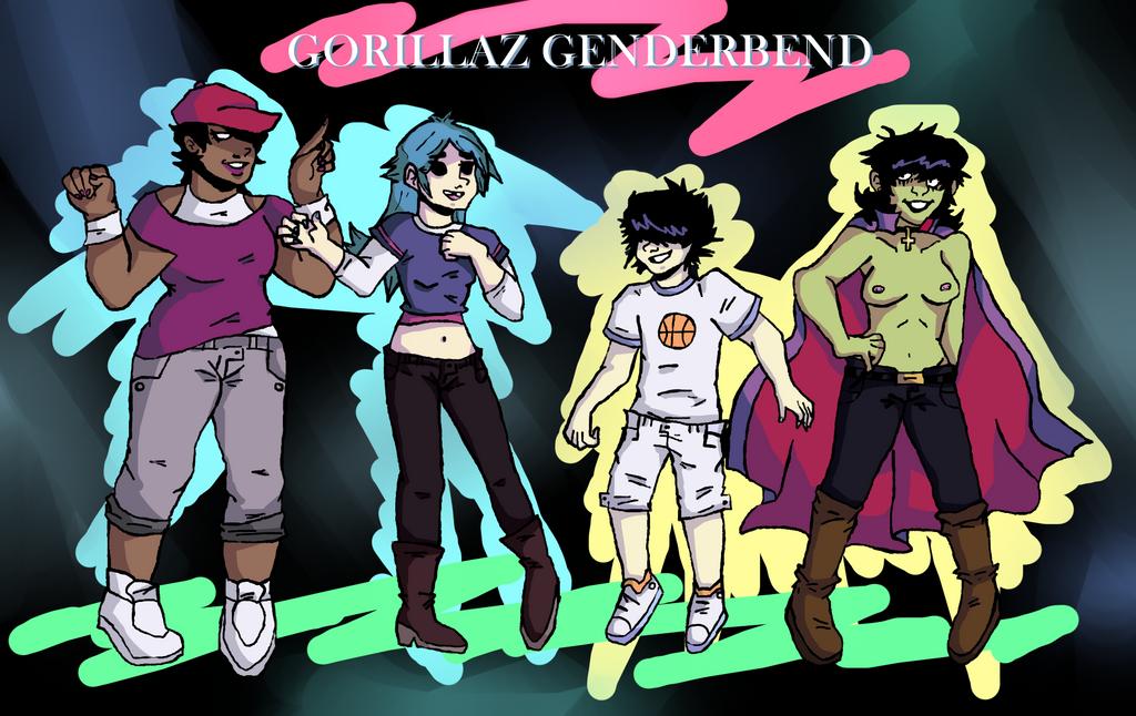 Gorillaz Genderbend by Bzwel-Delta