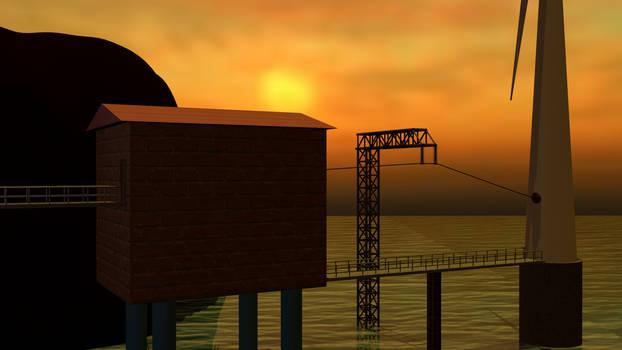 Rendered sunrise, frame 2