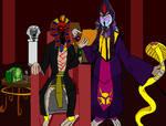 Pharaoh Rehk'Set and Skaraab by Agent-G245