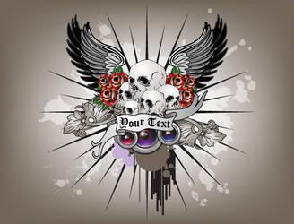rose and skull by jimcarlene