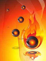 in flames by jimcarlene