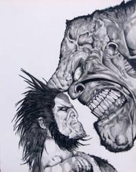Wolverine and Hulk by IWasThor