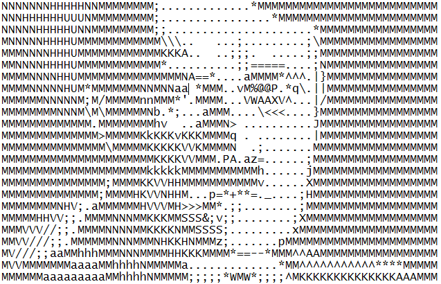 ASCII Art Attempt: Hitler by todellisus on DeviantArt