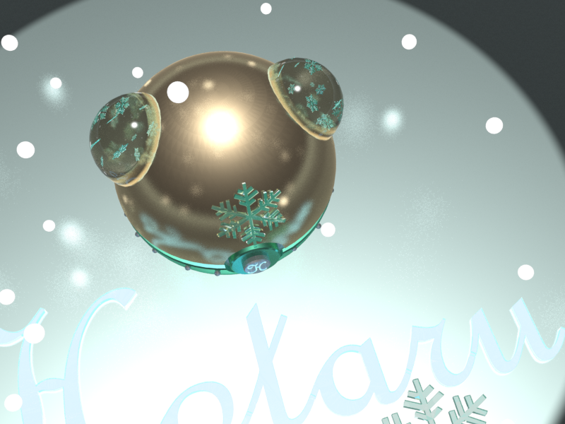 Top view of the winter Pokeball by HaizeaShepard