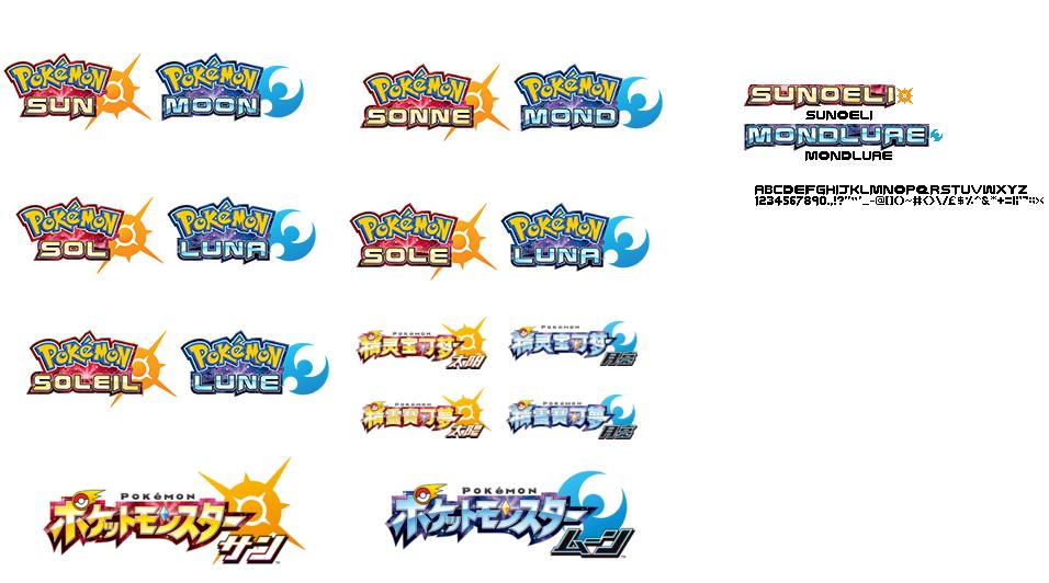 Sun 26 Moon Pokemon Text Font Images