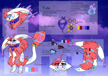 Official Yuki Ref (main fursona) by Fluffydragon24