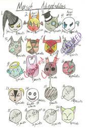 Morsch Masks Adoptables (CLOSED) by Ozokami698