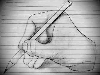 Hand Anatomy Study #1 by BrofesserDRAWSstuff