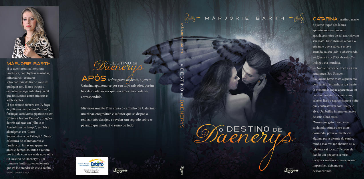 Book Cover Design Deviantart : Book cover design daenerys destiny by marinabookcovers on
