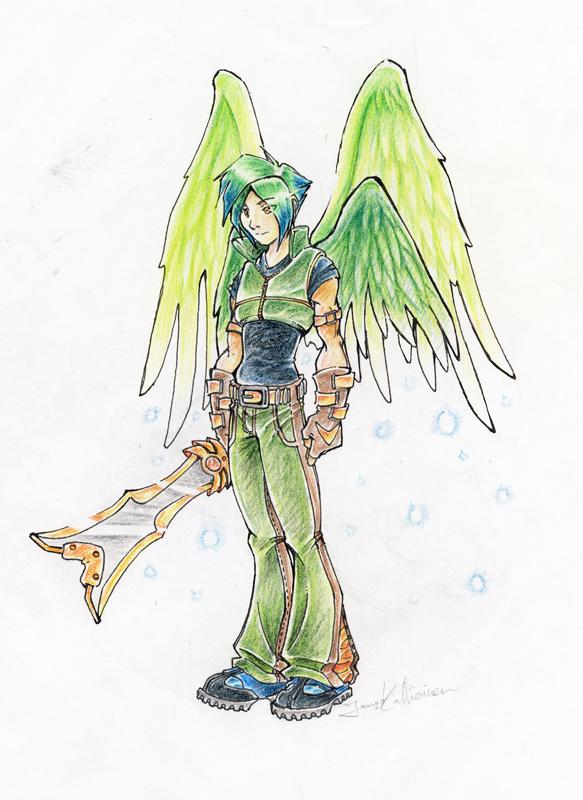 Green Angel by Scalier