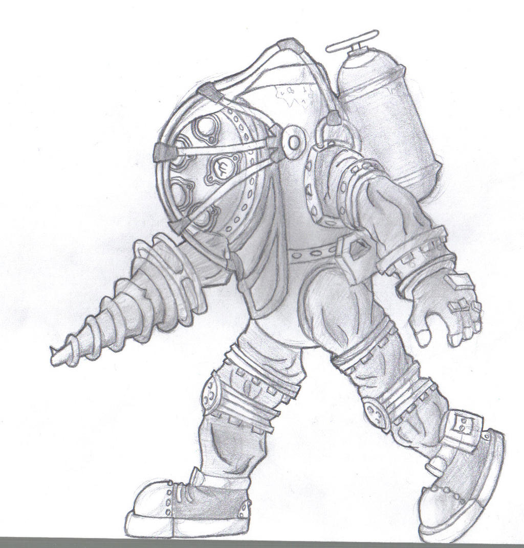 Bioshock Big Daddy Drawing By Mateoatya1 On Deviantart