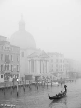 Gondola and fog