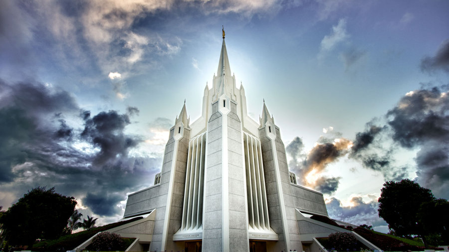Mormon Temple HDR By DavidHatfield