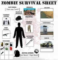 Zombie Survival Sheet by VampireDevilDude