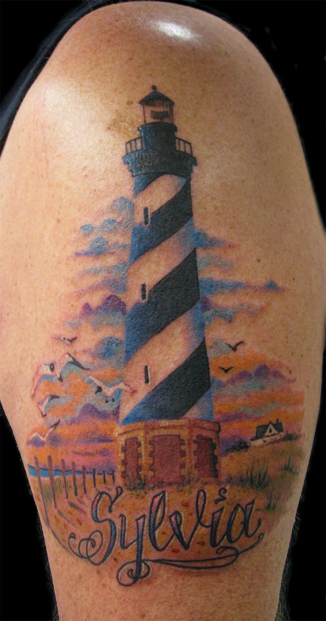 the gallery for lighthouse tattoo outline. Black Bedroom Furniture Sets. Home Design Ideas