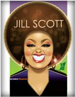 Jill Scott by braeonArt