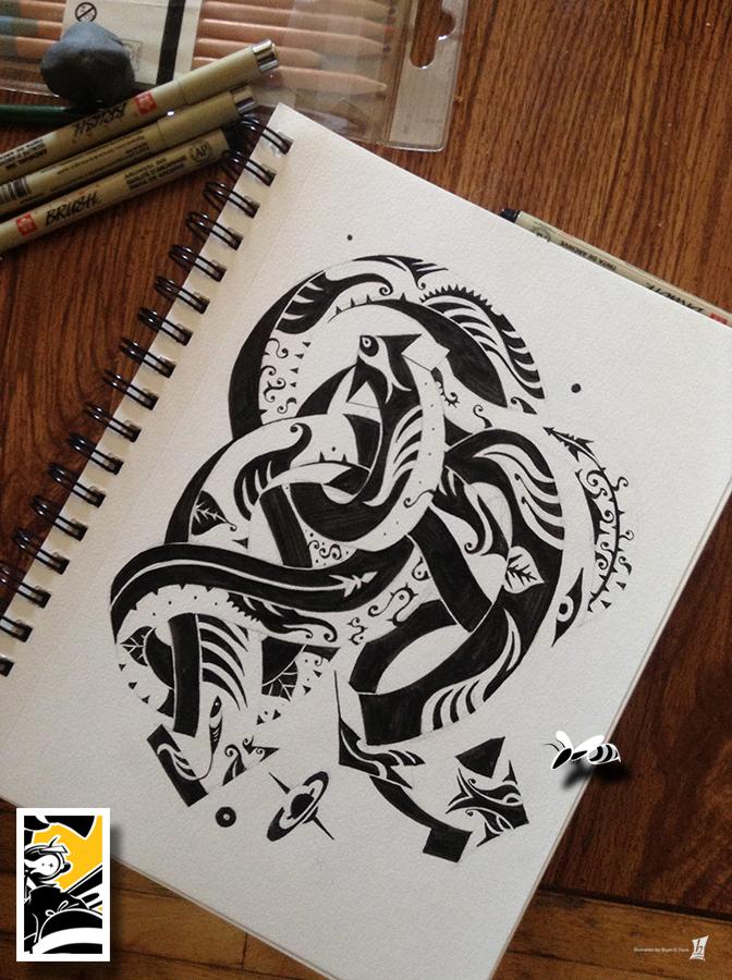 Drawing The Sea Pretzel by braeonArt