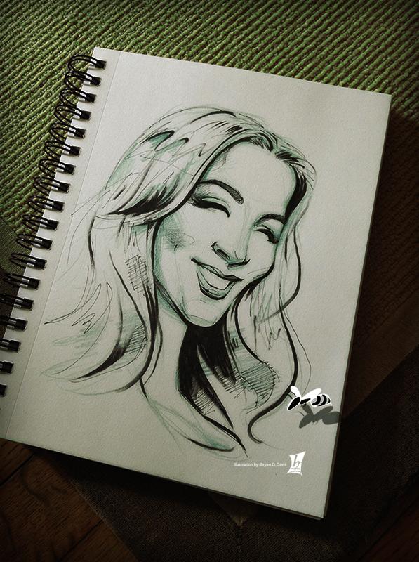 Jackie G Sketch by braeonArt