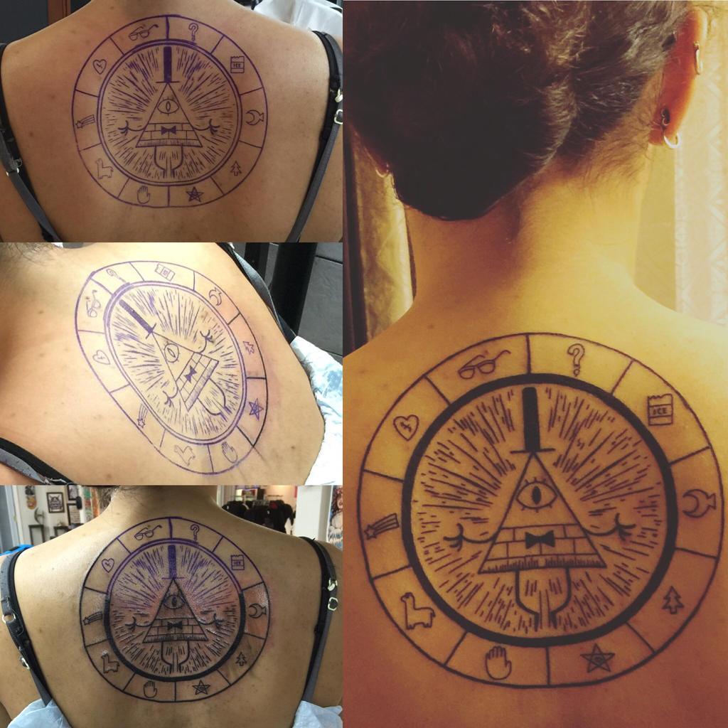 Bill cipher tattoo by vampykoumori on deviantart for Great falls tattoo shops