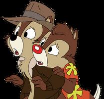 Chip N Dale by Plastewolf
