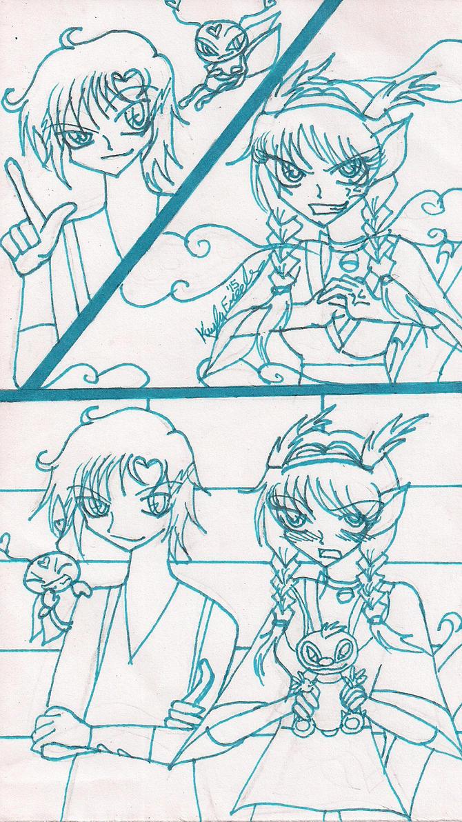 Lovebug and Cupid Teamup 4 by rumiko18
