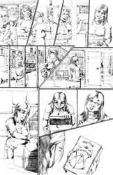 Between Pages 4 pencils