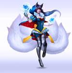 Snow White Ahri - Fan skin