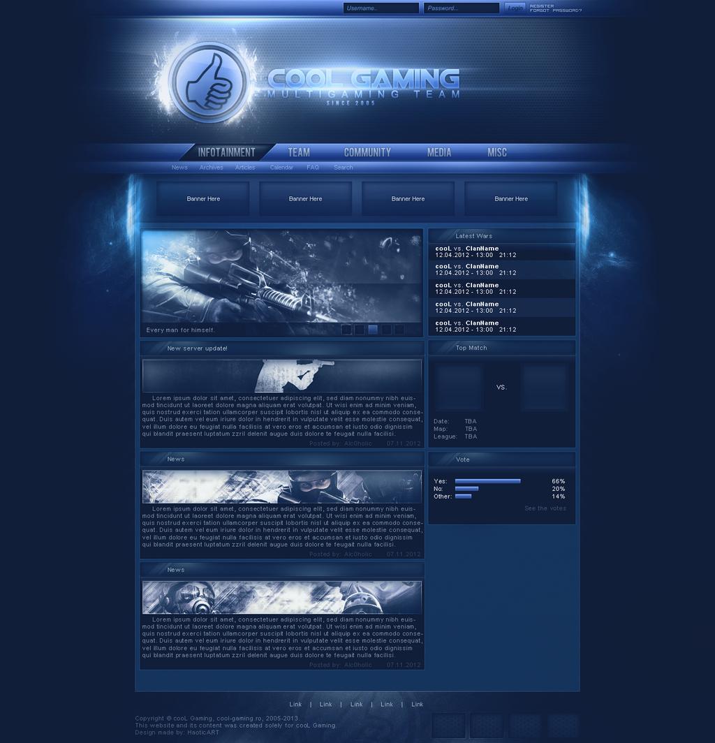 cooL-Gaming Website Design by ooc-designs on DeviantArt