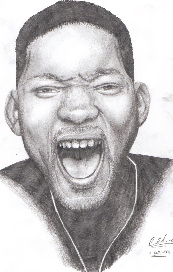 Will smith pencil portrait by moggo23