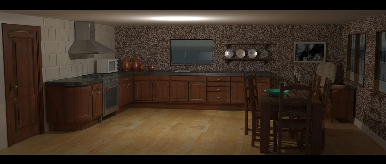 Old Kitchen Old Kitchen Dining Room 3d Render By Moggo23 On Deviantart