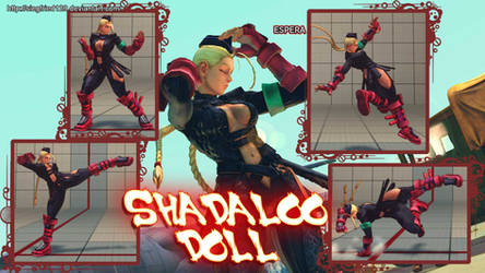 Super street fighter 4 PC - shadaloo doll cammy by Siegfried129
