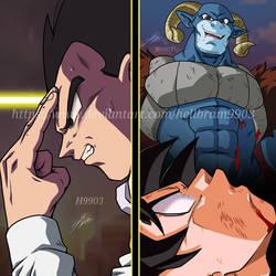 Vegeta Teletransportation - Goku loses Vs Moro