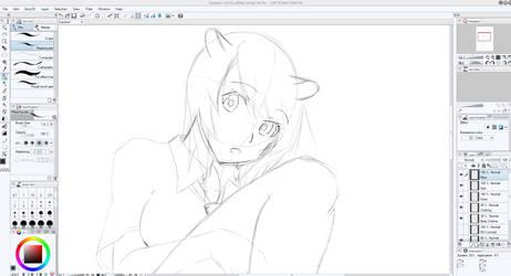 Kasukerii Birthday Illustration Progress by A-U-R