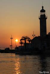 Nightfall on the port