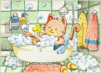 Bubble bath by yuki-the-vampire