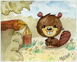 Bruce the Beaver by yuki-the-vampire