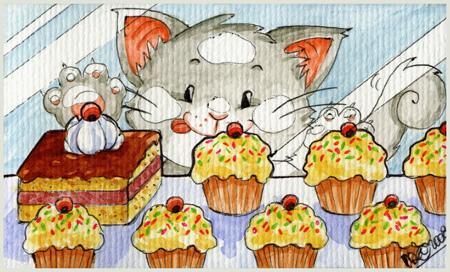 Kitties Love Sweeties by yuki-the-vampire