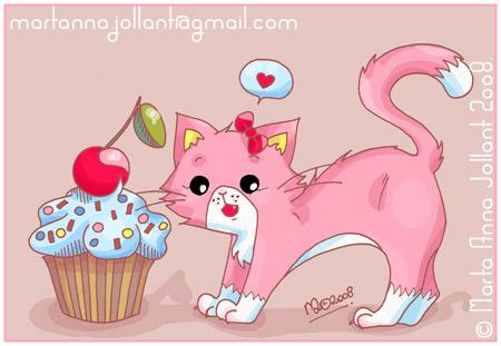 Cupcake Kitty by yuki-the-vampire