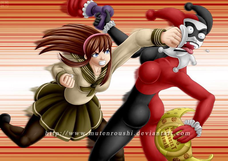 Hitomi vs Harley Quinn by Mutenroushi