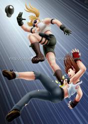 Hitomi vs Sonya by Mutenroushi