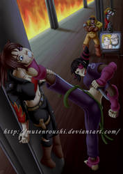 Bizarre Capcom crossover by Mutenroushi