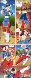 Chun li comic commission by Mutenroushi