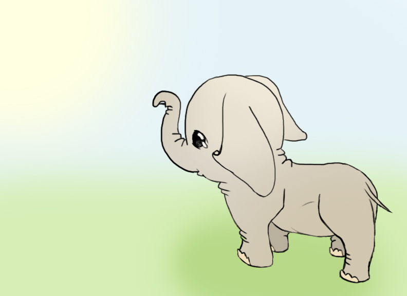 Elephant colored by Little-Blue-Buggy